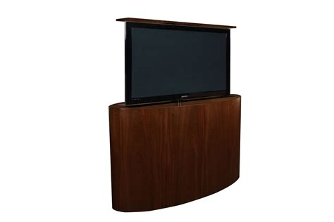 motorized tv lift cabinet custom tv lift atlantis oval tv lift cabinet tronix