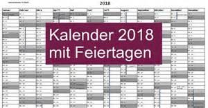 Kalender 2018 Pdf Kostenlos Kalender 2018 Mit Feiertagen Freeware De