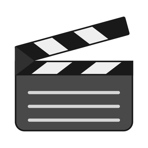film cut emoji board clapper cut director making movie take icon