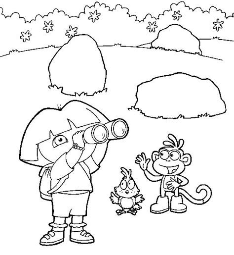 Dora The Explorer 70 Cartoons Printable Coloring Pages 70s Coloring Pages