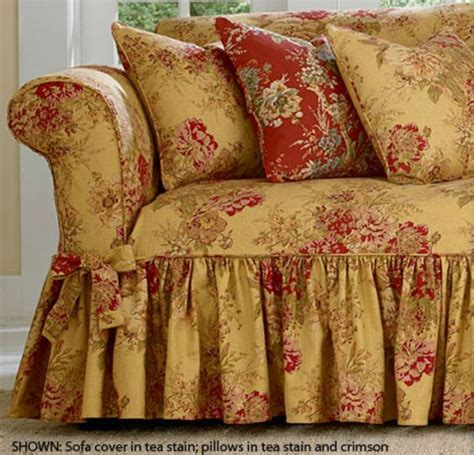 sure fit waverly ballad bouquet sofa slipcover surefit ballad bouquet by waverly slipcover details