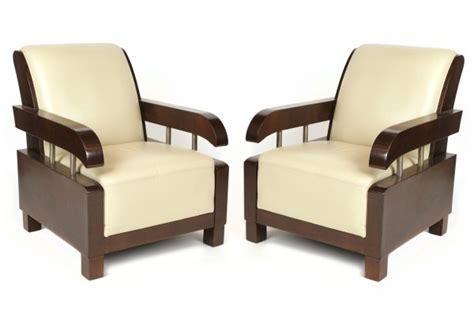 wonderful pair of deco lounge chairs