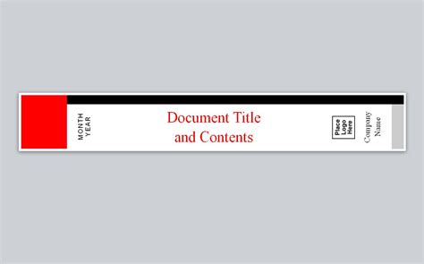 binder spine template word similar to avery binder spine template