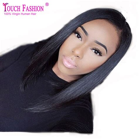wigs short on one side long on the other best quality short side part u part bob wig human hair