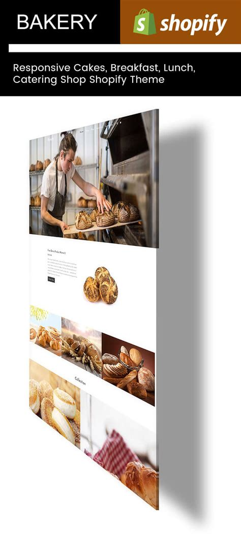 shopify themes bakery bakery responsive cakes breakfast lunch catering shop