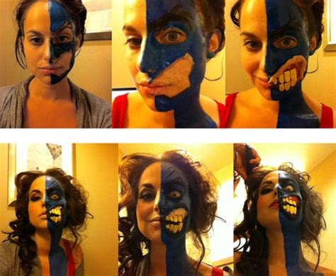 makeup tutorial two face don t be tricked by this two face costume 171 adafruit