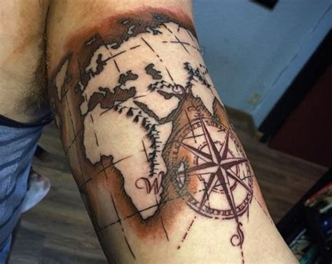 world map tattoo designs creative map tattoos for the traveling type