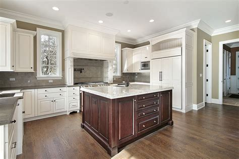 white kitchen dark island 31 quot new quot custom white kitchens with wood islands