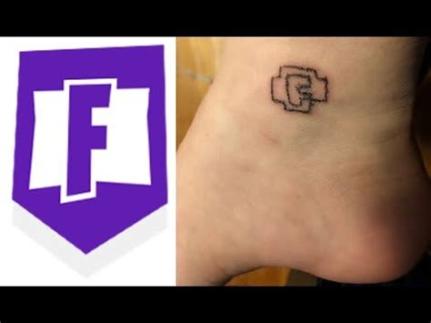 tattooed fortnite logo on myself youtube