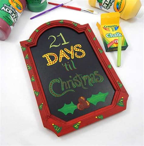 christmas countdown chalkboard craft crayola com