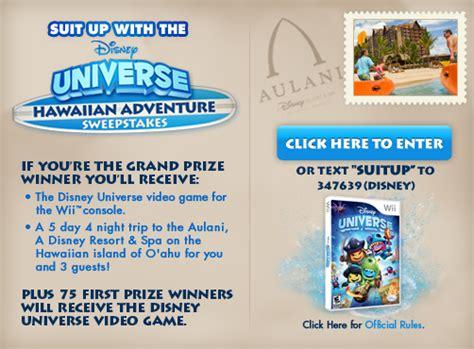 Disney Hawaiian Sweepstakes - disney universe hawaiian adventure sweepstakes