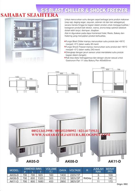 Vicenza Stainless Steel Tipe B sahabatsejahtera stainless steel blast chiller shock