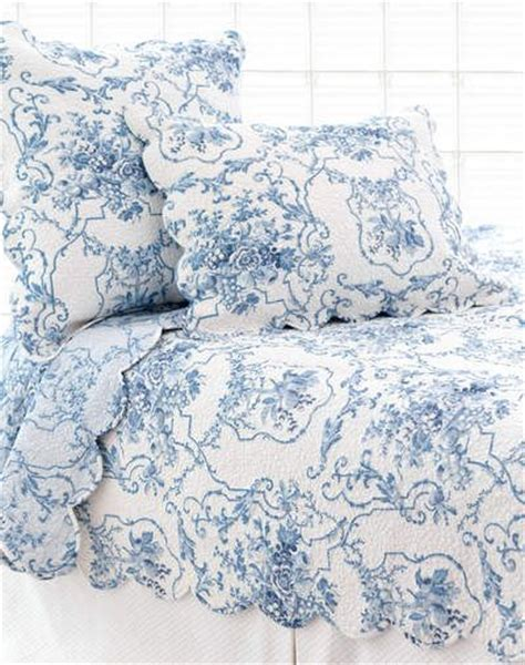 blue toile bedding summer home pinterest