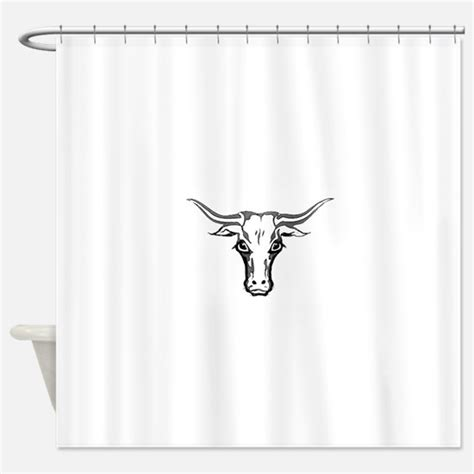 Cow Skull Shower Curtains Cow Skull Fabric Shower