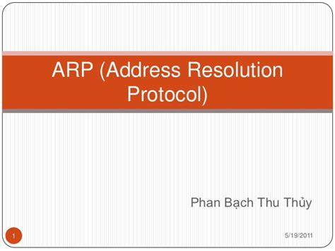 Address Resolution Protocol Arp Address Resolution Protocol