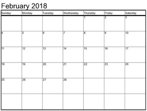 printable calendar 2018 excel february 2018 calendar excel printable template