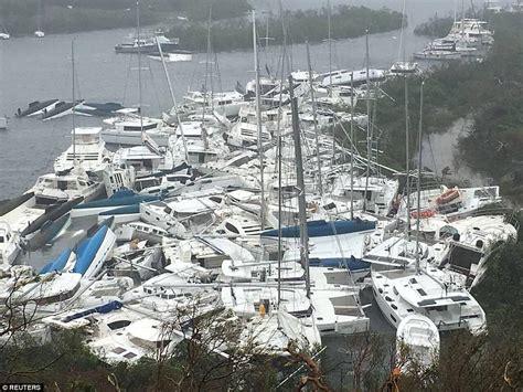 hurricane irma and boats hurricane irma slams into caribbean amid mass evacuation