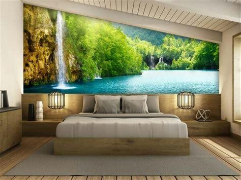 jual wallpaper dinding pemandangan alam  murah  lapak