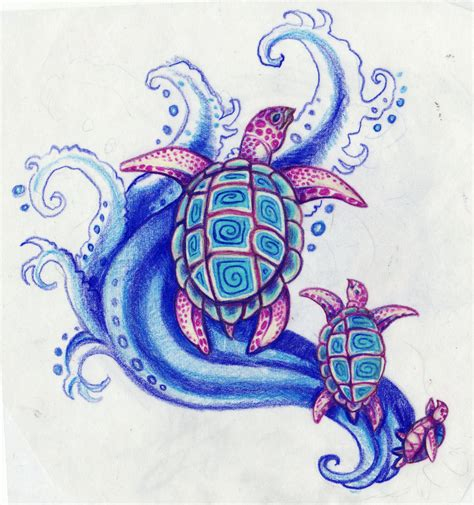 sea turtles by kittencaboodles on deviantart