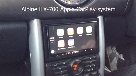 bmw mini apple carplay alpine ilx  youtube