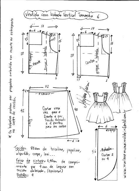 esquema de vestido vestido com babado vertical no corpo diy marlene mukai