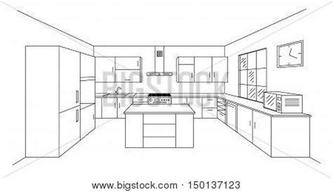 Kitchen Island Woodworking Plans by Sketch Modern Kitchen Plan Island Vector Amp Photo Bigstock