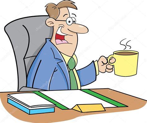 imagenes animadas tomando cafe hombre de dibujos animados bebiendo caf 233 vector de stock