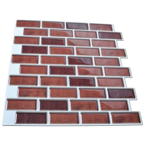 peel and stick 6 pack peel and stick brick backsplash tiles kitchen smart