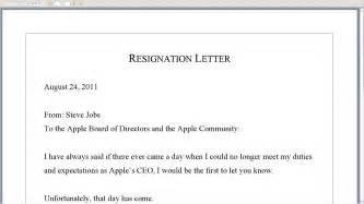 Formal Letter Zone Resignation Exles Sle Resignation Letter Format Letter Of Resignation Template Formal