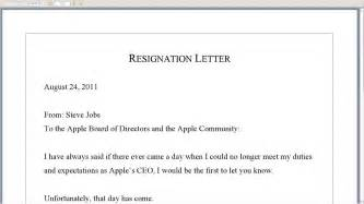 Steve jobs resignation letter youtube