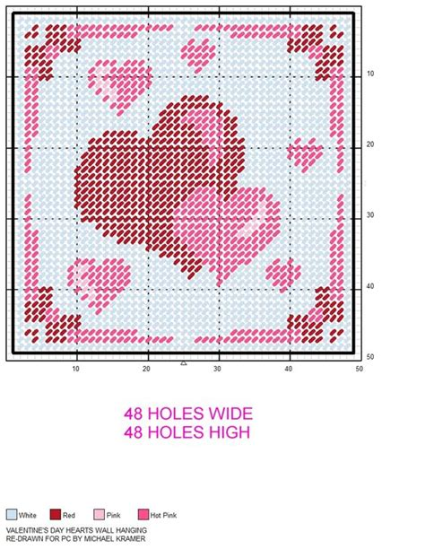 heart pattern plastic canvas valentine s hearts wall hanging plastic canvas pattern