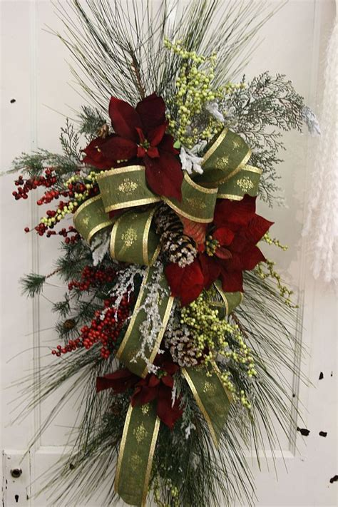 images of christmas swags christmas swag church floral arrangements pinterest