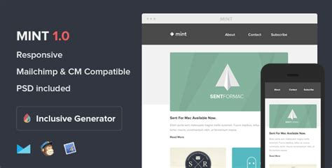 40 Responsive Email Templates 56pixels Com Email Template Builder