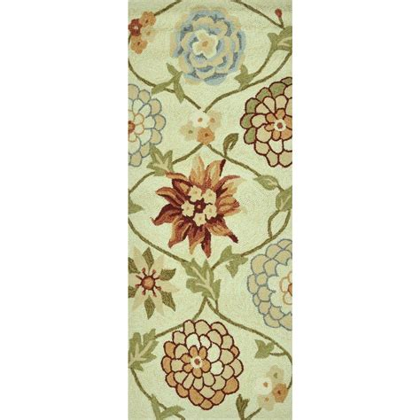 summerton collection floral area rug loloi rugs summerton lifestyle collection ivory floral 2 ft x 5 ft rug runner 885369147647