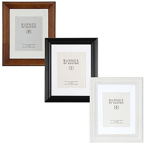 10 X 15 Matted Frames - burnes of boston 8 inch x 10 inch matted ribbed wood