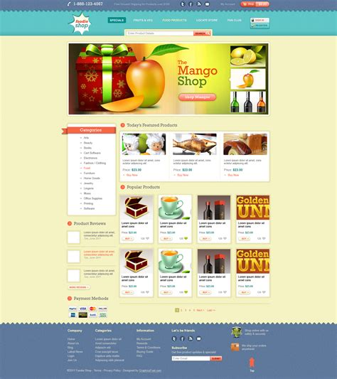 ecommerce website template design psd graphicsfuel