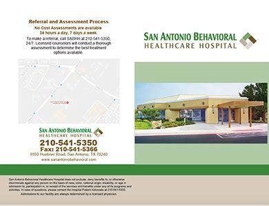 Best Inpatient Psychiatric Detox Center In San Antonio by Psychiatric Hospital Brochures San Antonio Behavioral