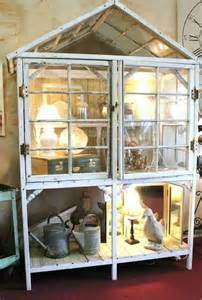 Curio Cabinet Greenhouse 17 Best Images About Repurposed Windows On