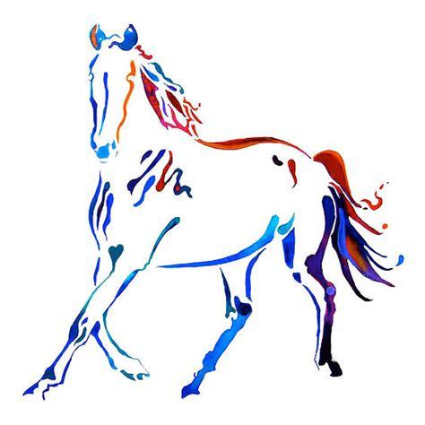 3d Home Design Ideas colorful horse tattoo design