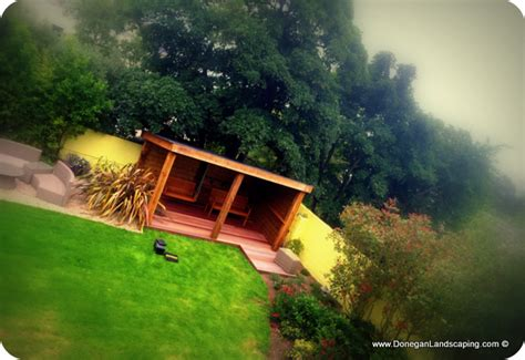 swinging dublin garden structure swinging seat howth dublin landscaping