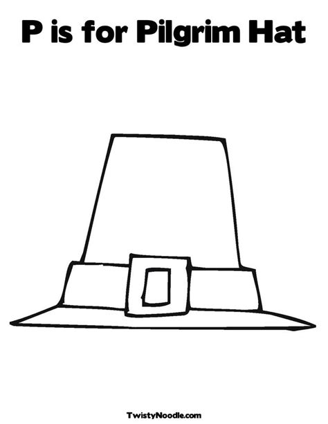 pilgrim hat printable template free coloring pages of hat