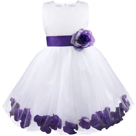 toddler dresses infant flower petals dress children bridesmaid