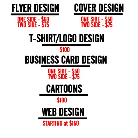 freelance rate card template freelance flyer design rates yourweek 99db80eca25e
