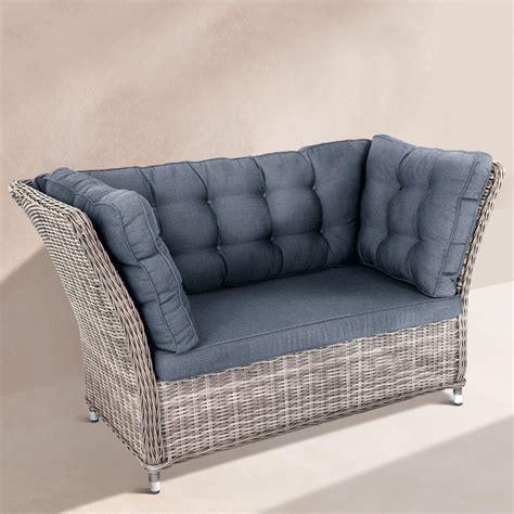 polyrattan zweisitzer polyrattan lounge m 246 bel 3 jahre garantie pro idee