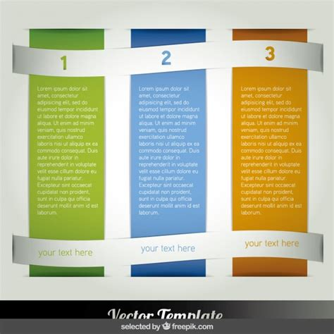 three columns infographic vector free download