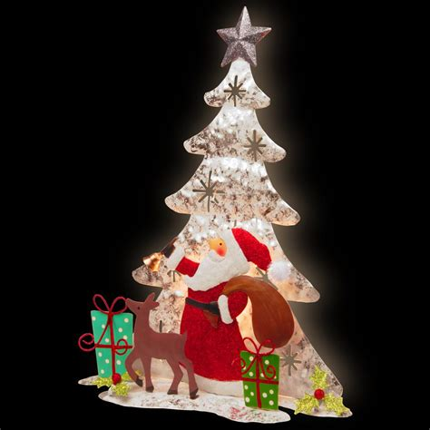 best soft dancing christmas tree lights general foam 40 in santa hd c5770 the home depot