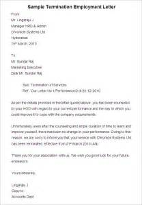 Letter Of Termination Of Employment by Free Termination Letter Template 33 Free Sle Exle Format Free Premium