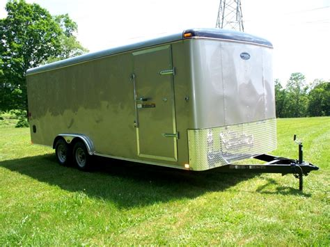 with trailer 8 x 18 enclosed cargo trailer