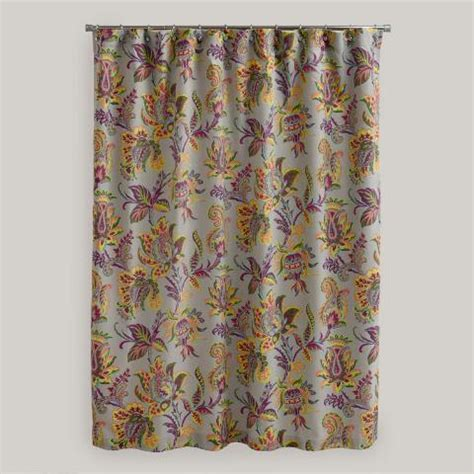 sahara curtains sahara bloom shower curtain world market