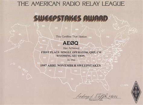 Cw Sweepstakes - arrl cw sweepstakes from wyoming